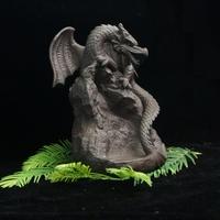 Dragon en céramique brûleur d'encens plus 20 cônes d'encens