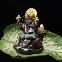 Statue porte encens du dieu Indien Ganesha.