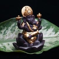 Indien-Ganesha-estatue-l-phant-dieu-Bouddha-statues-Refluant-encens-br-leur-base-Ornements-gifurines-Chambre