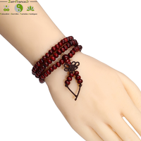 Bracelet mala tibétain en bois de santal 108 perles_02