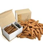 22 cônes d'encens longue durée, dans une belle boîte et son diffuseur en céramique.2