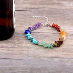 Chaude-7-Chakra-Bracelet-Hommes-Gu-rison-Pierre-Naturelle-Cristaux-Puces-Tourmaline-Strand-Perles-Bracelets-pour