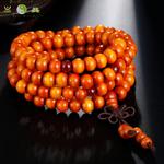 Bracelet mala tibétain en bois de santal 108 perles_06