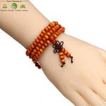 Bracelet mala tibétain en bois de santal 108 perles_13