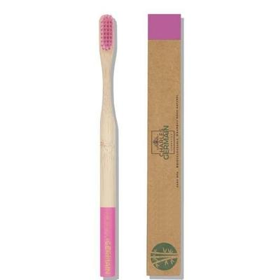 Brosse à dents en bambou - rose