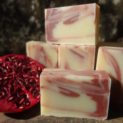 Savon Grenade bio, Beurre de Mangue & Argile rouge