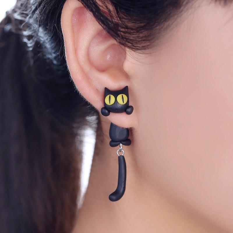 Boucles d\'oreilles tendance Chat rigolo