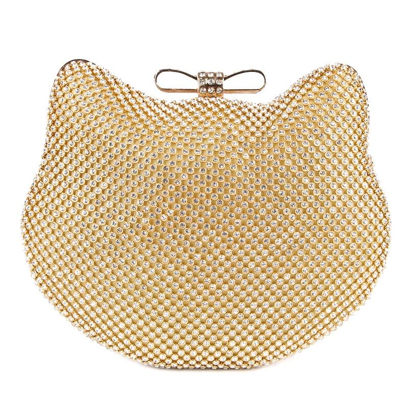 b4d2c56456 Sac clutch Chat strass - sacs & bagages - Les 3 chats