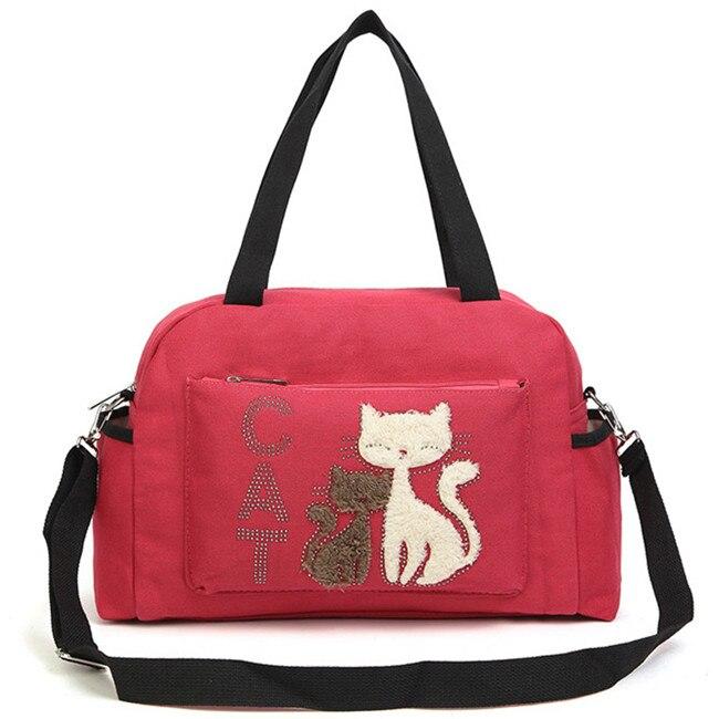 Mode-femmes-sacs-main-couleur-unie-sacs-en-toile-dames-sacs-bandouli-re-avec-mignon-chat