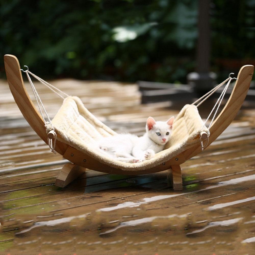Hamac en bois Chat design