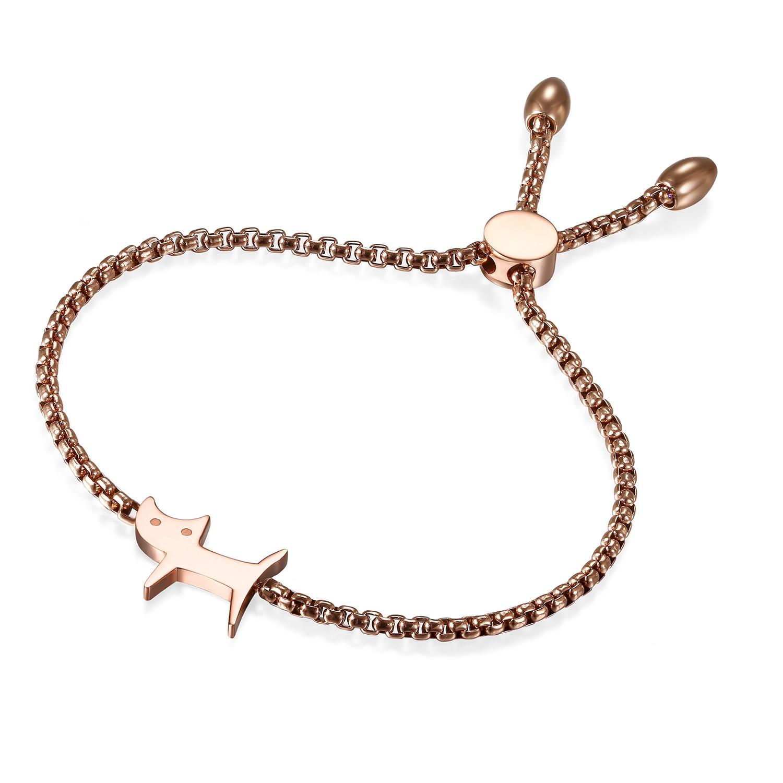 Bracelet gourmette Chaton