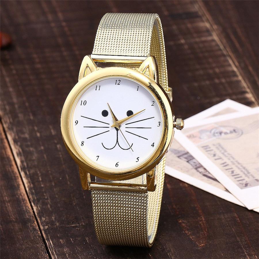 Vansvar-marque-mode-or-maille-bande-chat-montre-de-luxe-montre-quartz-d-contract-e-Relogio
