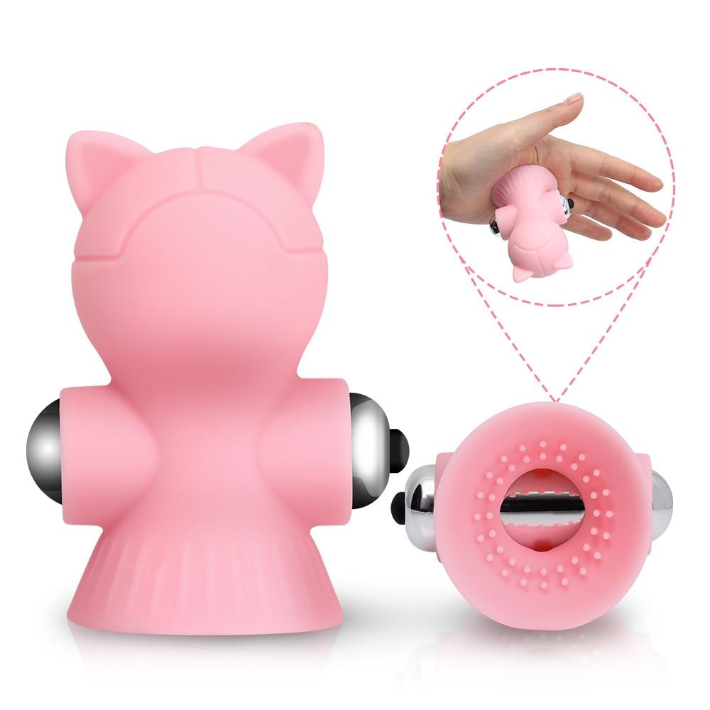 Chats de massage mamelons