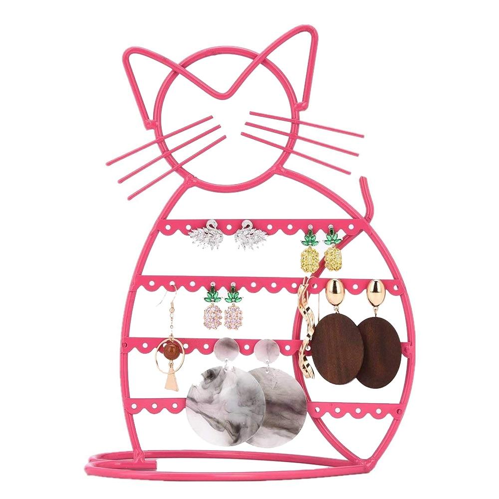 M-tal-chat-bijoux-affichage-support-pour-boucle-d-oreilles-organisateur-rose-couleur-fil-bijoux-affichage
