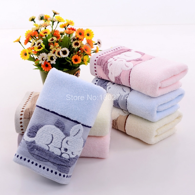 Serviette de toilette pastel motif Chat qui dort