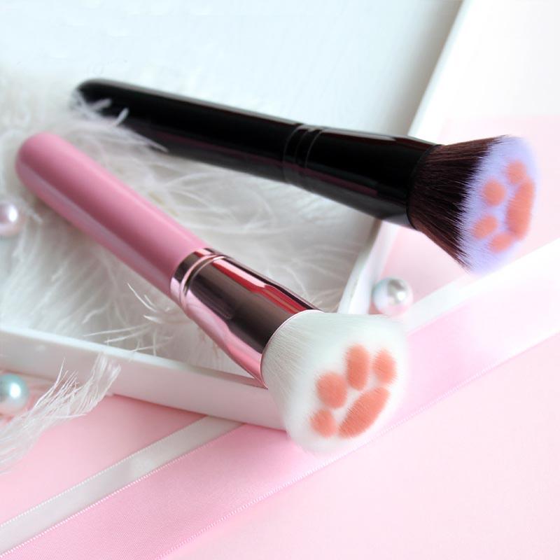 2019-nouveau-1-pi-ces-chat-forme-de-griffe-pinceaux-de-maquillage-poudre-brosse-Kawaii-cosm