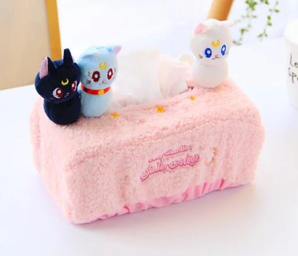 Candice-guo-Date-mignon-en-peluche-jouet-Sailor-Moon-luna-chat-doux-tissue-box-cover-serviette