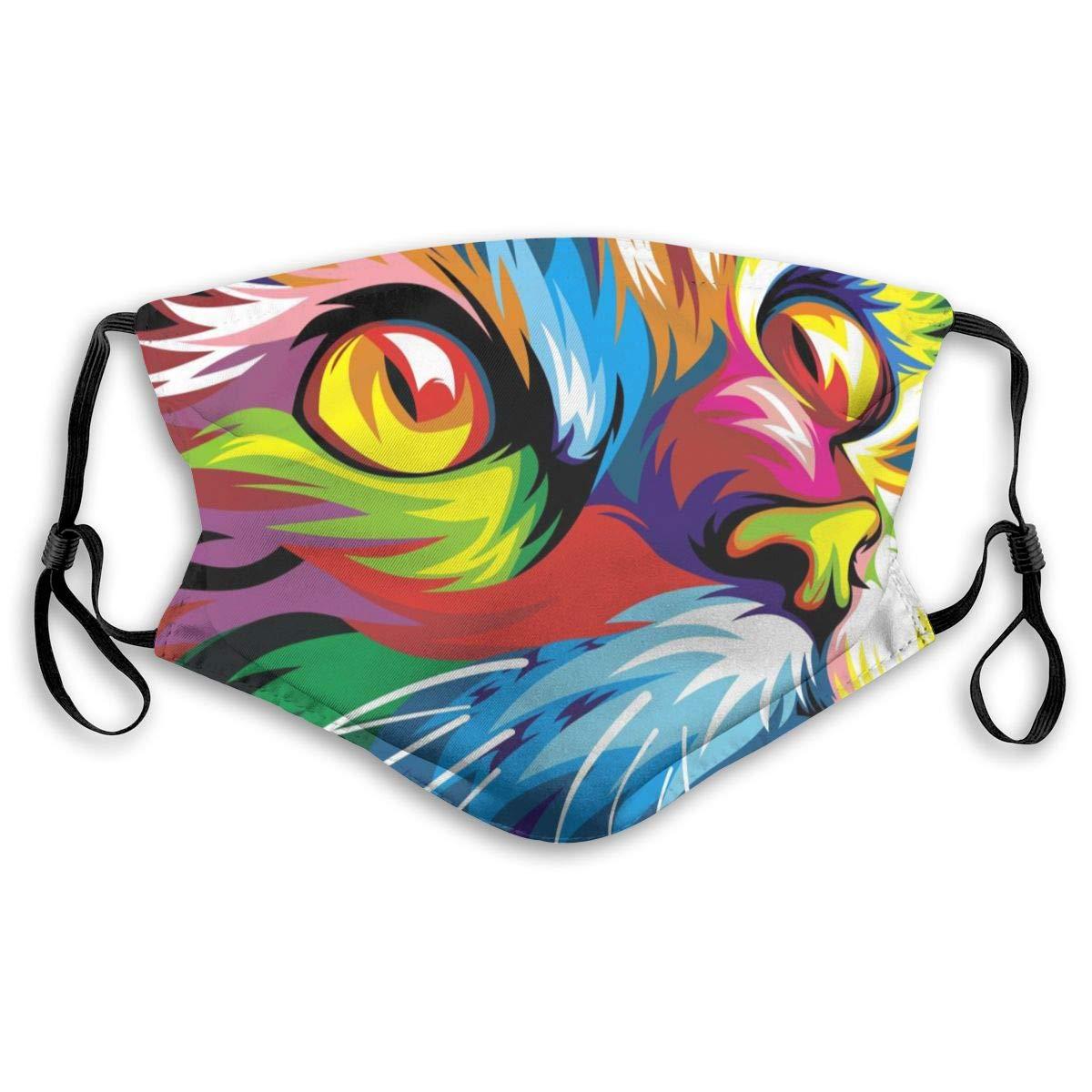 Masque lavable Chat Pop Art