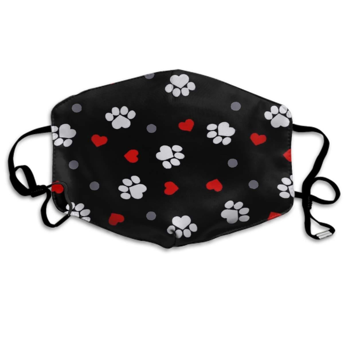 Confortable-deux-couches-masque-anti-poussi-re-doux-patte-coeur-impression-masque-noir-couverture-bouche-pour