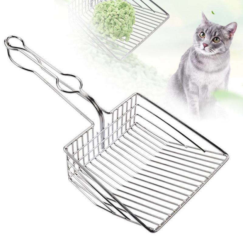 Pelle à litière à Chat acier