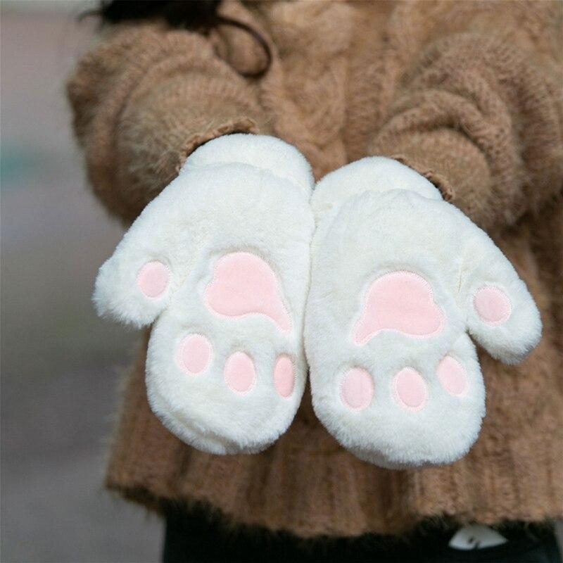 Moufles pattounes de Chat en peluche