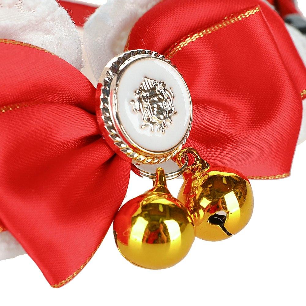 Hoopet-Chat-Collier-Chat-Harnais-Arc-Cravate-Dr-le-Motif-Colliers-Avec-Bells-Britannique-Gentleman-Style