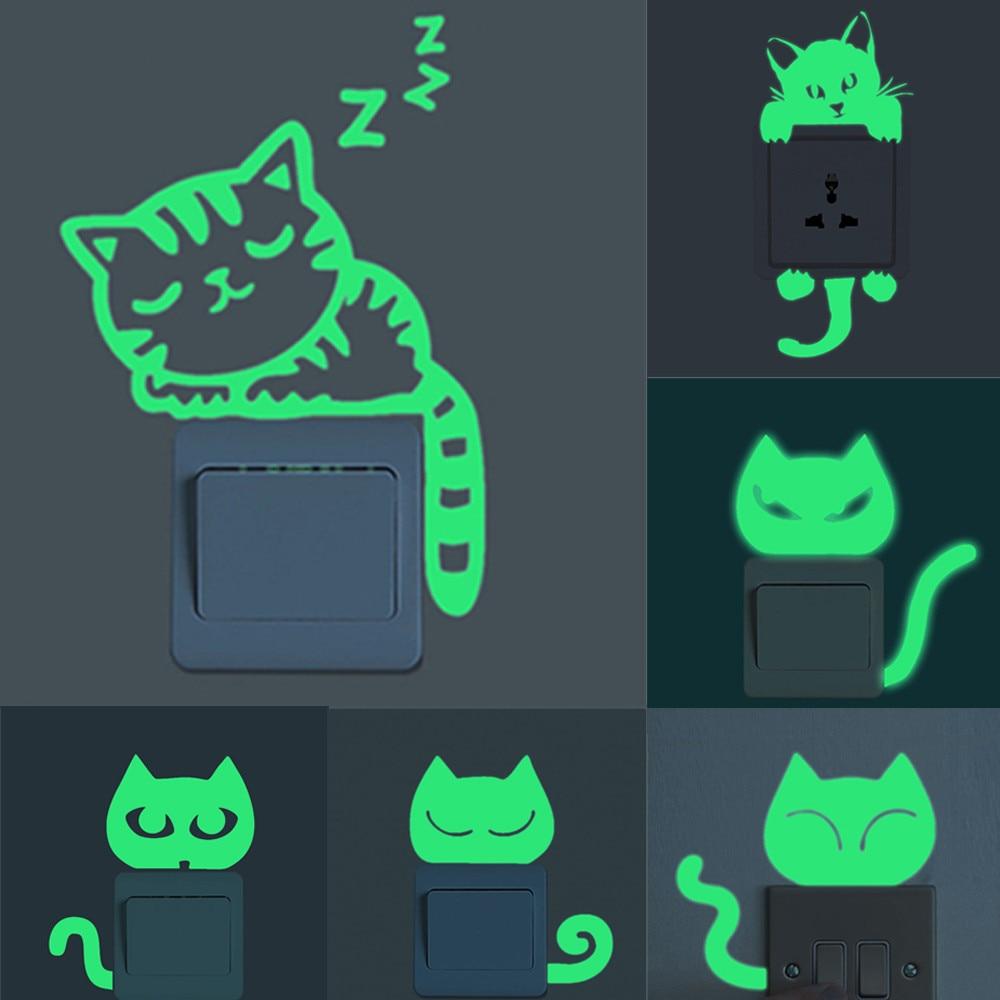 Sticker mural Chat fluorescent