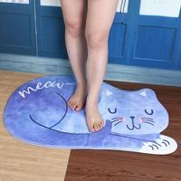 Tapis de sol Chat absorbant anti-dérapant
