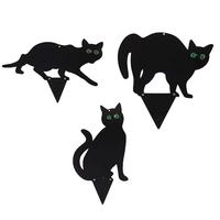 3pec-M-tal-Noir-Effrayer-Les-Chats-Antiparasitaires-Effaroucheur-R-pulsif-Chat-Deterrant-Chat-Noir