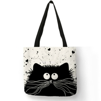 Style-Simple-femmes-sac-main-dessin-anim-mignon-chat-noir-imprime-sac-bandouli-re-Eco-lin