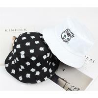 Chapeau bob réversible Chat noir et blanc