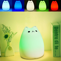Color-7-Couleurs-Chat-led-Enfants-Animaux-Nuit-Lumi-re-Silicone-Souple-de-Bande-Dessin-e