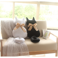 Peluche coussin Chat velours