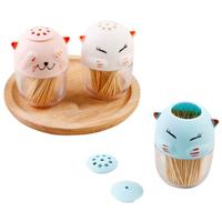 Salière poivrière ou pot à cure-dents Chat nippon