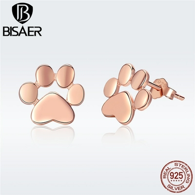 Boucles d'oreilles argent massif véritable pattoune de Chat