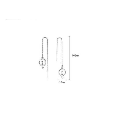 RUOYE-Mode-925-Sterling-Argent-Chat-de-Baisse-Boucle-D-oreille-Ronde-Gland-Conception-Boucle-D
