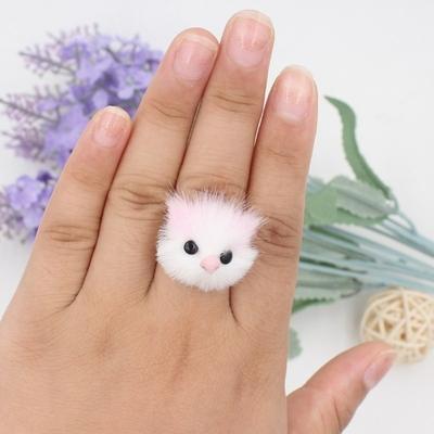 Mignon-Fluffy-Fourrure-De-Chat-Anneaux-Pour-Femmes-Faux-De-Fourrure-De-Lapin-Chien-Renard-Panda