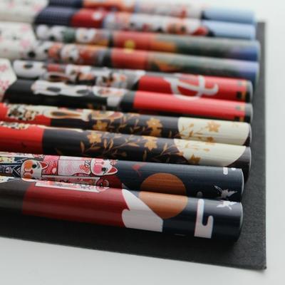 Visuelle-Tactile-Chanceux-Chat-Bambou-cologique-Baguettes-La-Main-En-Bois-En-Bois-Baguettes-Ensemble-5