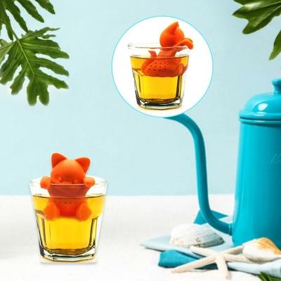 Boule à thé en silicone Chat trop mignon