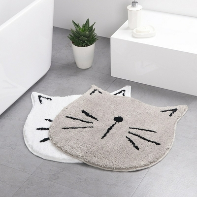 Tapis de bain Chat absorbant