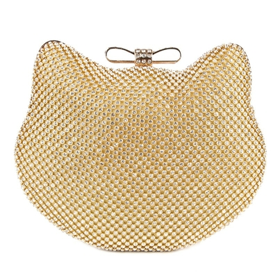 Sac clutch Chat strass