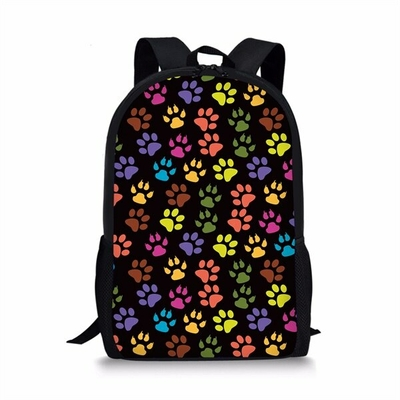 Sac à dos pattounes de Chat multicolores
