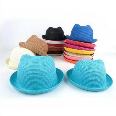 Chapeau de paille Chat enfant et adulte