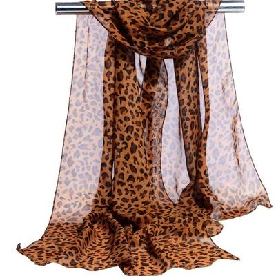 Foulard en mousseline Chat léopard