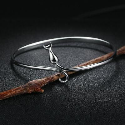 Bracelets-breloques-et-bracelets-en-argent-Sterling-100-Double-Fair-925-jolis-chats-Design-S925-bijoux