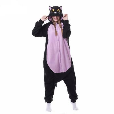 Pyjama kigurumi Chat noir et rose