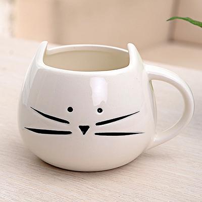 Tasse mug en céramique Chat joufflu noir ou blanc