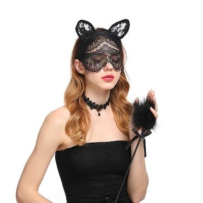 Serre-tête et masque sexy Chat dentelle