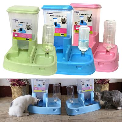 Distributeur manuel eau et croquettes pour Chat