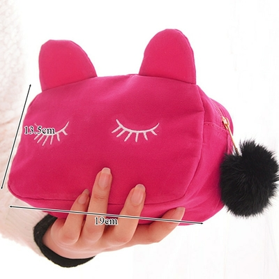 Trousse petit ou grand format Chat velours